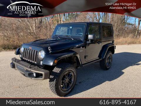 2016 Jeep Wrangler for sale at Miedema Auto Sales in Allendale MI