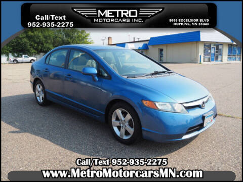 2008 Honda Civic for sale at Metro Motorcars Inc in Hopkins MN