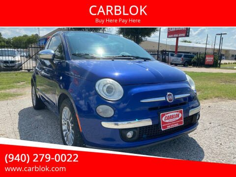2012 FIAT 500 for sale at CARBLOK in Lewisville TX