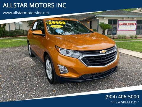 2018 Chevrolet Equinox for sale at ALLSTAR MOTORS INC in Middleburg FL