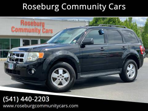 2012 Ford Escape for sale at Roseburg Community Cars in Roseburg OR