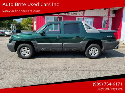 2003 Chevrolet Avalanche for sale at Auto Brite Used Cars Inc in Saginaw MI