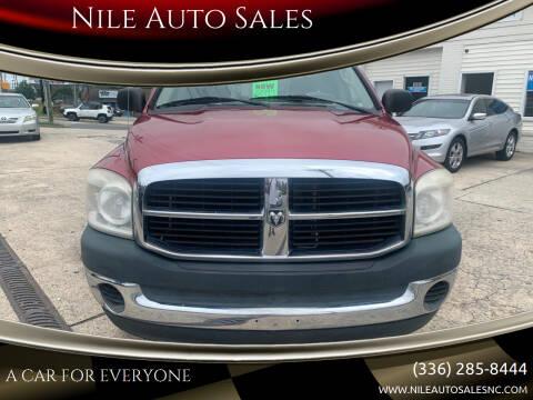 2008 Dodge Ram Pickup 1500 for sale at Nile Auto Sales in Greensboro NC