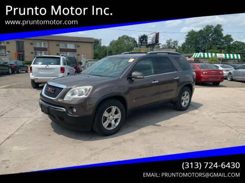 2009 GMC Acadia for sale at Prunto Motor Inc. in Dearborn MI