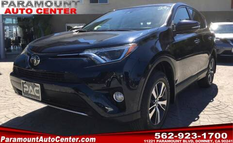2018 Toyota RAV4 for sale at PARAMOUNT AUTO CENTER in Downey CA