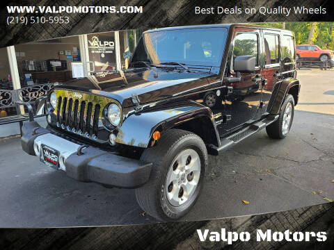 2014 Jeep Wrangler Unlimited for sale at Valpo Motors in Valparaiso IN