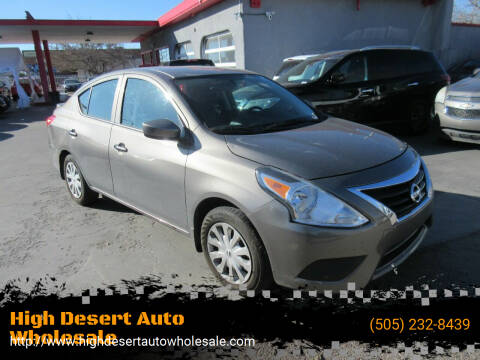 2017 Nissan Versa for sale at High Desert Auto Wholesale in Albuquerque NM