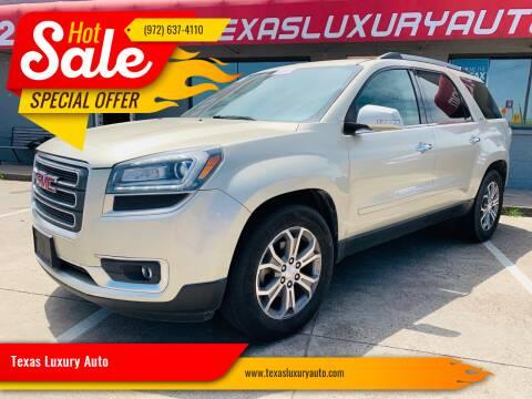 2014 GMC Acadia for sale at Texas Luxury Auto in Cedar Hill TX