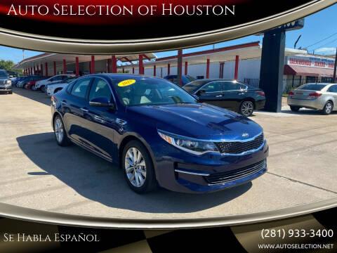 2018 Kia Optima for sale at Auto Selection of Houston in Houston TX