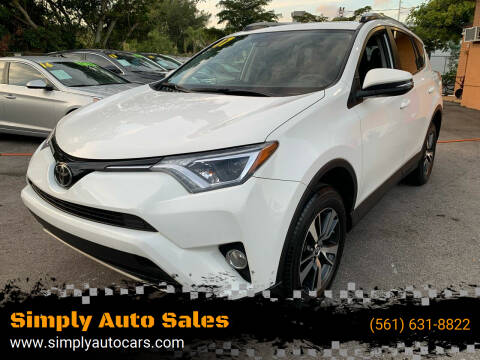 2017 Toyota RAV4 for sale at Simply Auto Sales in Palm Beach Gardens FL
