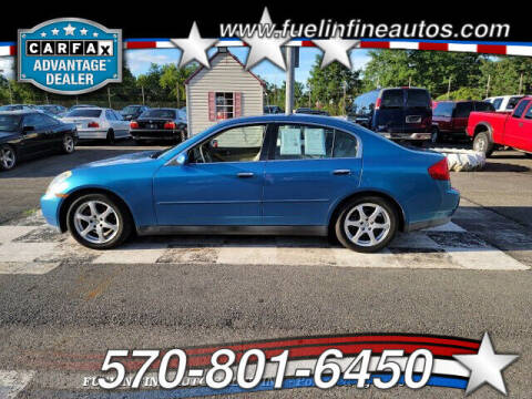 2003 Infiniti G35 for sale at FUELIN FINE AUTO SALES INC in Saylorsburg PA