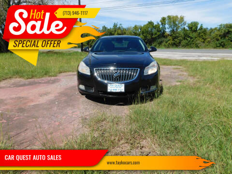 2011 Buick Regal for sale at CAR QUEST AUTO SALES in Houston TX