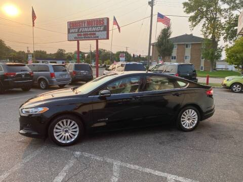2016 Ford Fusion Hybrid for sale at Christy Motors in Crystal MN