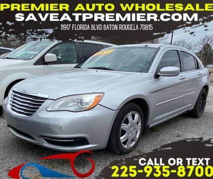 2012 Chrysler 200 for sale at Premier Auto Wholesale in Baton Rouge LA