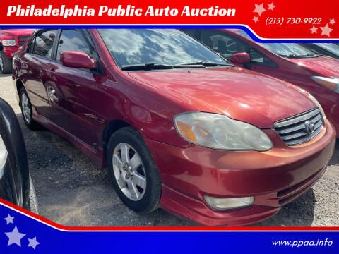 2004 Toyota Corolla for sale at Philadelphia Public Auto Auction in Philadelphia PA
