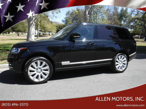 2017 Land Rover Range Rover for sale at Allen Motors, Inc. in Thousand Oaks CA