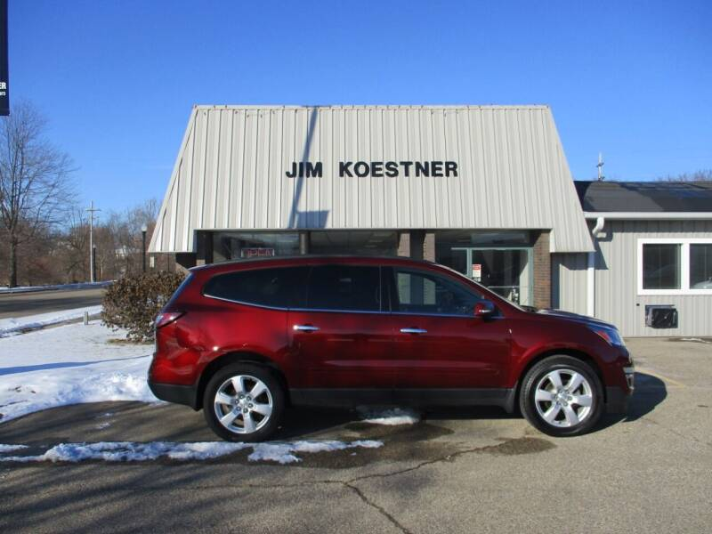 2017 Chevrolet Traverse for sale at JIM KOESTNER INC in Plainwell MI