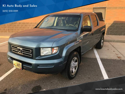 2006 Honda Ridgeline for sale at KI Auto Body and Sales in Lino Lakes MN