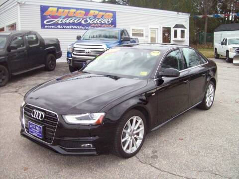 2014 Audi A4 for sale at Auto Pro Auto Sales in Lewiston ME