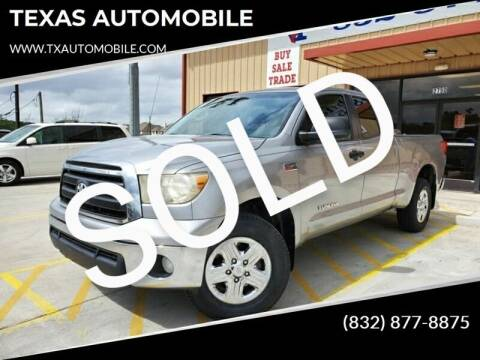 2010 Toyota Tundra for sale at TEXAS AUTOMOBILE in Houston TX