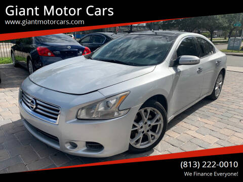 2013 Nissan Maxima for sale at Giant Motor Cars in Tampa FL