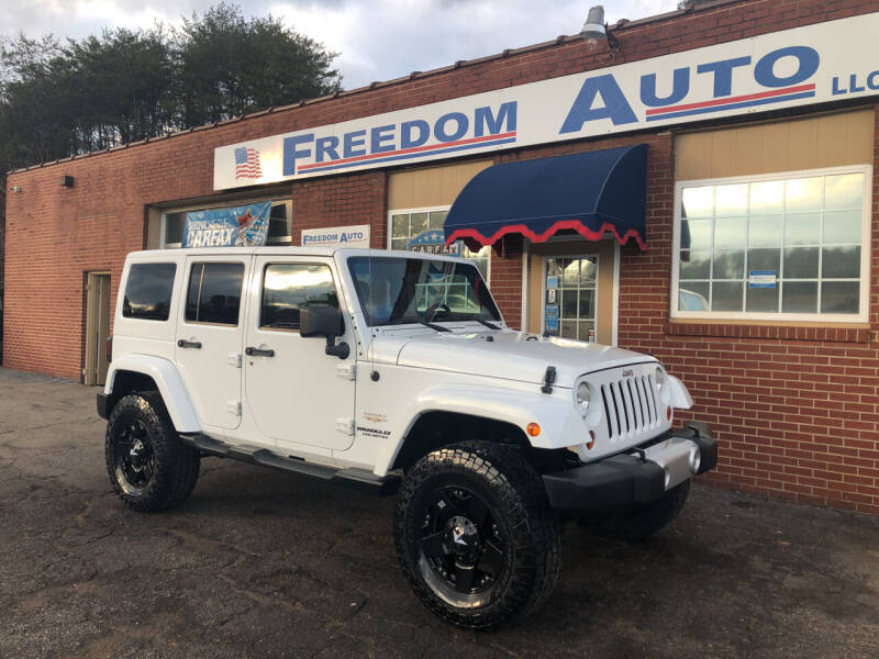 2013 Jeep Wrangler Unlimited for sale at FREEDOM AUTO LLC in Wilkesboro NC