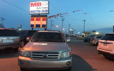 2004 Toyota Highlander for sale at MB Auto Sales in Oklahoma City OK