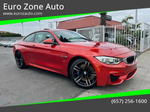 2015 BMW M4 for sale at Euro Zone Auto in Stanton CA