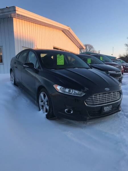 2015 Ford Fusion for sale at QUALITY MOTORS in Cuba City WI