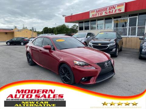 2015 Lexus IS 250 for sale at Modern Auto Sales in Hollywood FL