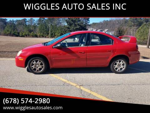 2003 Dodge Neon for sale at WIGGLES AUTO SALES INC in Mableton GA