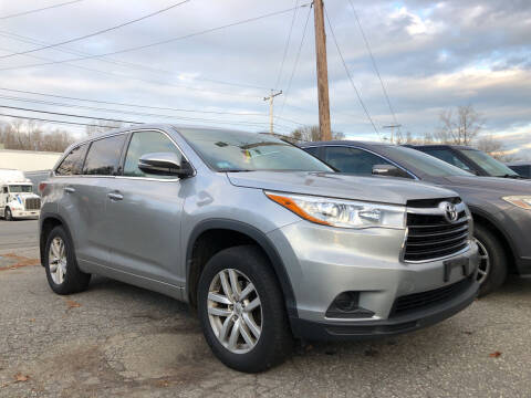 2015 Toyota Highlander for sale at Top Line Import of Methuen in Methuen MA