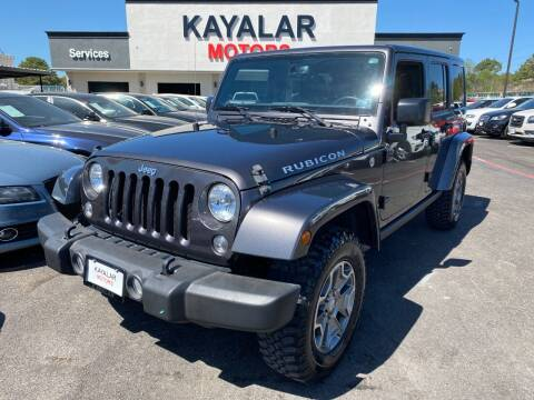 2016 Jeep Wrangler Unlimited for sale at KAYALAR MOTORS in Houston TX