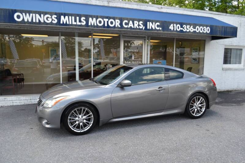 2013 Infiniti G37 Coupe for sale at Owings Mills Motor Cars in Owings Mills MD