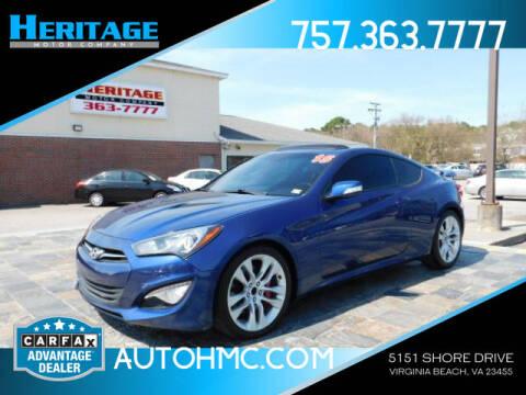 2015 Hyundai Genesis Coupe for sale at Heritage Motor Company in Virginia Beach VA