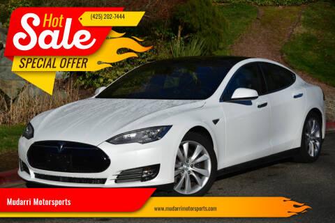2015 Tesla Model S for sale at Mudarri Motorsports in Kirkland WA