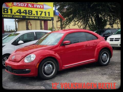 2012 Volkswagen Beetle for sale at ASTRO MOTORS in Houston TX