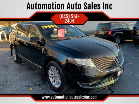 2015 Lincoln MKT Town Car for sale at Automotion Auto Sales Inc in Kingston NY