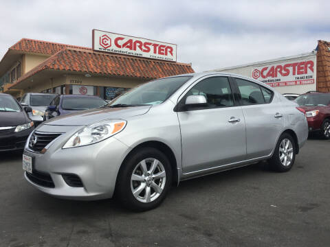2014 Nissan Versa for sale at CARSTER in Huntington Beach CA
