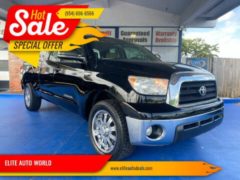 2008 Toyota Tundra for sale at ELITE AUTO WORLD in Fort Lauderdale FL