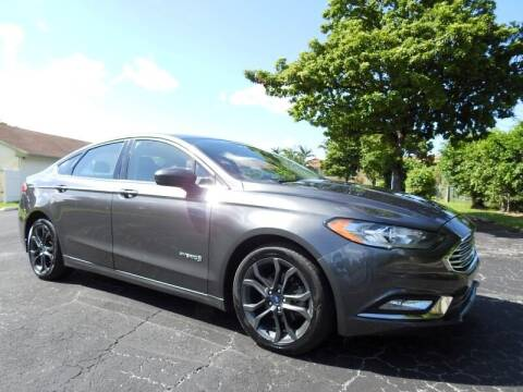 2018 Ford Fusion Hybrid for sale at SUPER DEAL MOTORS 441 in Hollywood FL