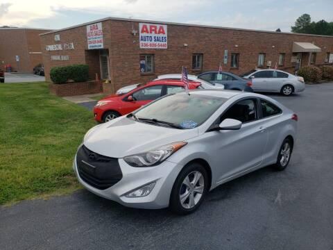 2013 Hyundai Elantra Coupe for sale at ARA Auto Sales in Winston-Salem NC