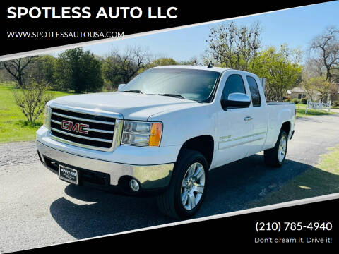 2013 GMC Sierra 1500 for sale at SPOTLESS AUTO LLC in San Antonio TX