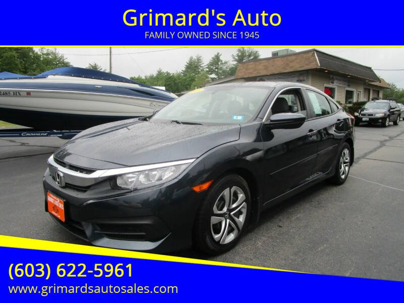 2016 Honda Civic for sale at Grimard's Auto in Hooksett NH