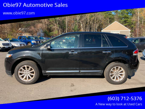 2013 Lincoln MKX for sale at Obie97 Automotive Sales in Londonderry NH