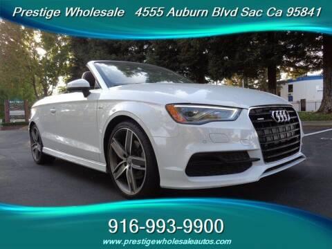 2015 Audi A3 for sale at Prestige Wholesale in Sacramento CA