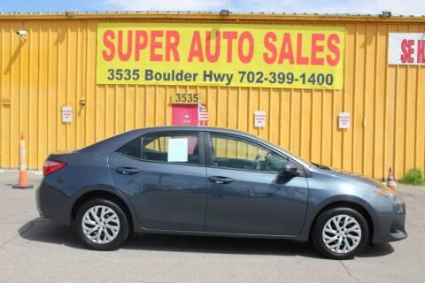 2017 Toyota Corolla for sale at Super Auto Sales in Las Vegas NV