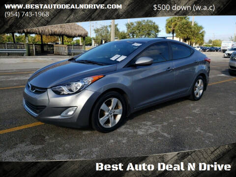 2012 Hyundai Elantra for sale at Best Auto Deal N Drive in Hollywood FL