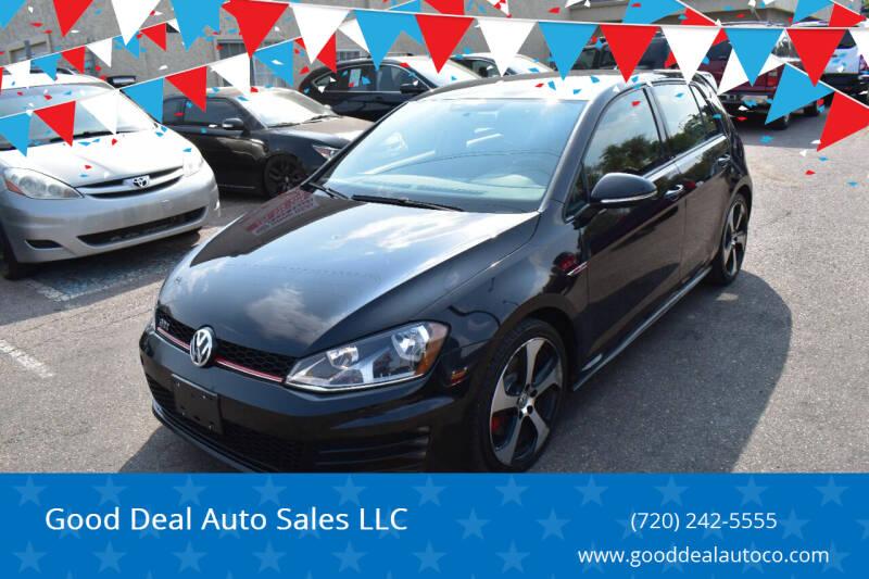 2017 Volkswagen Golf GTI for sale at Good Deal Auto Sales LLC in Denver CO