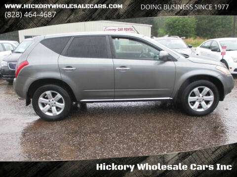 2007 Nissan Murano for sale at Hickory Wholesale Cars Inc in Newton NC